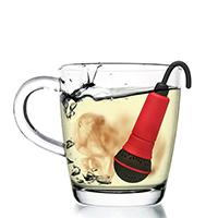 Заварник для чая Rocket Микрофон в красном цвете, фото