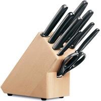 Набор Victorinox из 6 ножей ножниц мусата и поварской вилки в подставке, фото