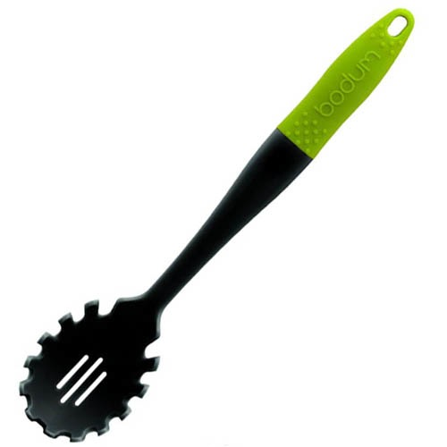 Ложка для спагетти Bodum с зеленой ручкой, фото