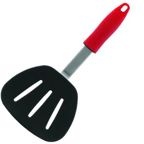 Лопатка кухонная Bodum широкая красная длинной 30 см, фото
