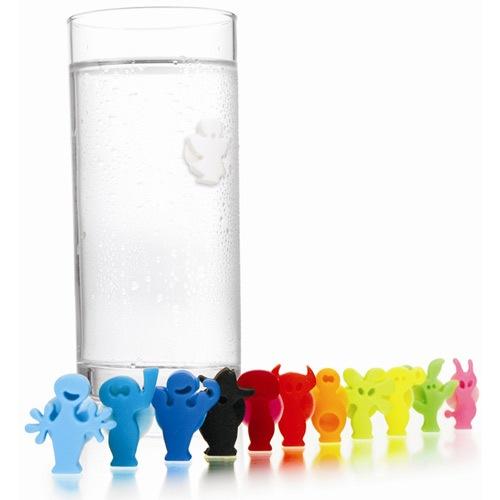 Набор маркеров-наклеек на стакан Vacu Vin Glass Markers , фото