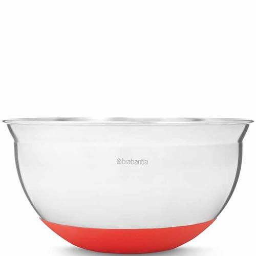 Миска Brabantia объемом 1.6 л с силиконовым дном красного цвета, фото
