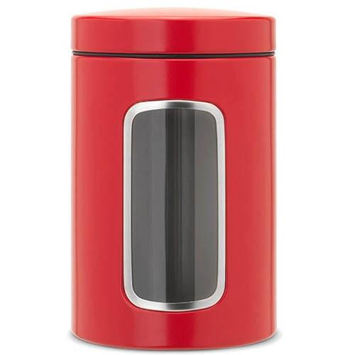 Емкость для хранения Brabantia красного цвета объем 1.4 л, фото