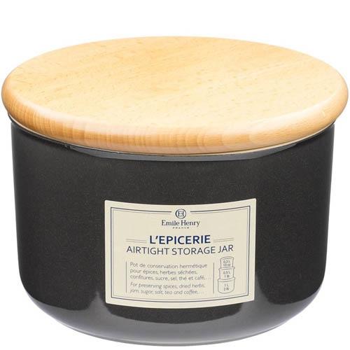 Емкость для хранения Emile Henry Natural Chic Poivre 1 л керамическая с крышкой, фото