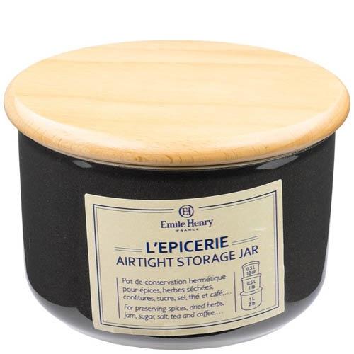Емкость для хранения Emile Henry Natural Chic Poivre 300 мл керамическая с крышкой, фото