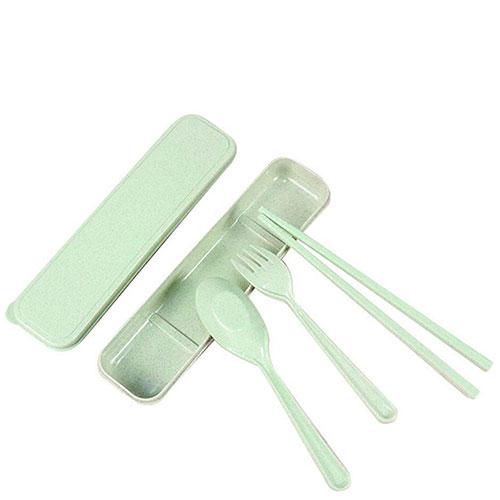 Зеленый набор приборов Be Different Travel Eco-Wheat #1, фото