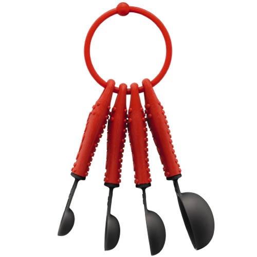 Набор мерный ложек на кольце Bodum Bistro Set красный, фото