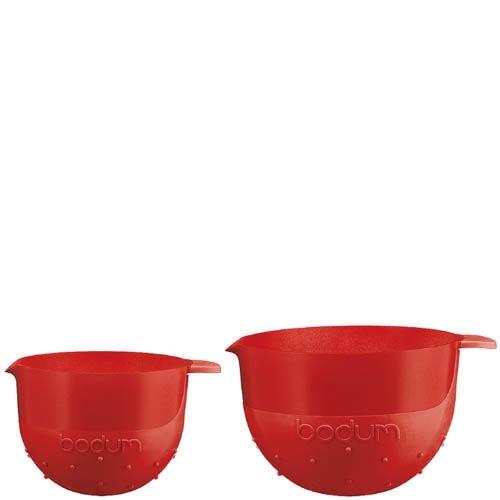Набор мисок Bodum  объемом 1.4 л и 2.8 л красные, фото