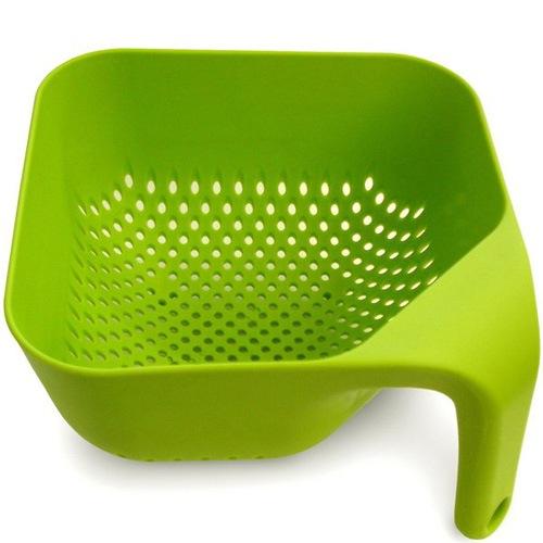 Дуршлаг Joseph Joseph Square Colander квадратный маленький зеленый, фото