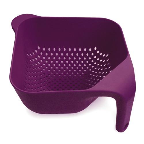 Большой квадратный  дуршлаг Joseph Joseph пурпурный, фото