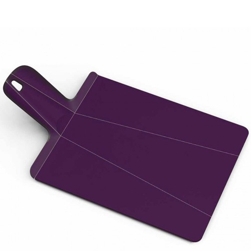 Разделочная доска Joseph Joseph Chop To Pot Plus маленькая пурпурная, фото