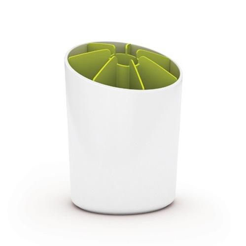 Подставка для аксессуаров Joseph Joseph Utensil Pot бело-зеленая, фото