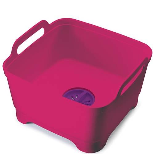 Емкость для мытья посуды со сливом Joseph Joseph Wash And Drain розовая, фото