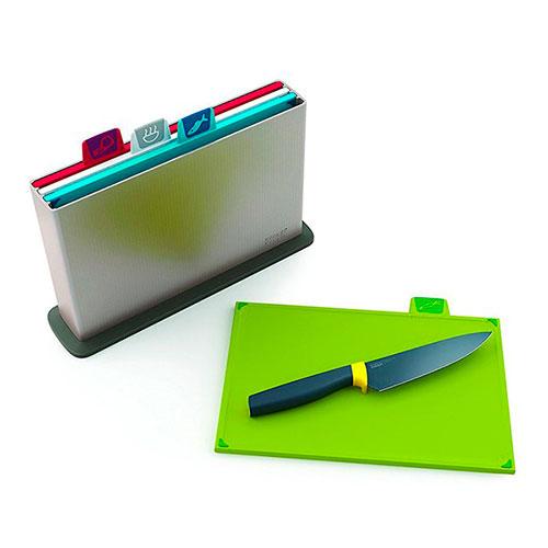 Набор разделочных досок Joseph Joseph Index в кейсе с ножом, фото