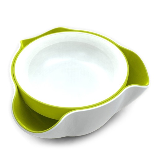 Миска Joseph Joseph Double Dish двойная бело-зеленая, фото