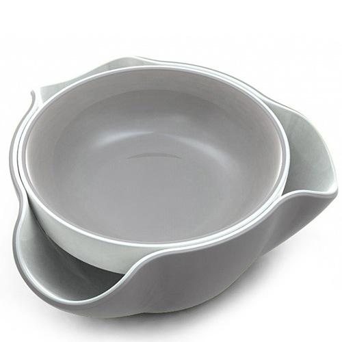 Миска Joseph Joseph Double Dish двойная бело-серая, фото