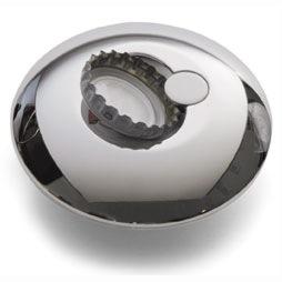 Открывалка круглая посеребренная, фото