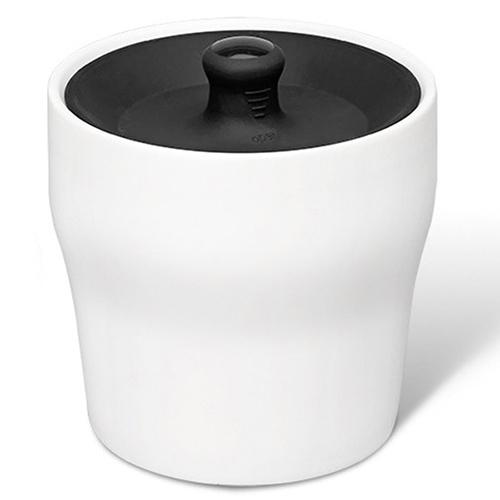 Емкость для хранения продуктов PO Selected Notin бело-черная, фото
