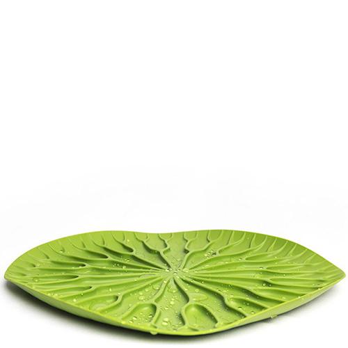 Сушилка-поднос для посуды Qualy Bai Bua Tray зеленого цвета, фото