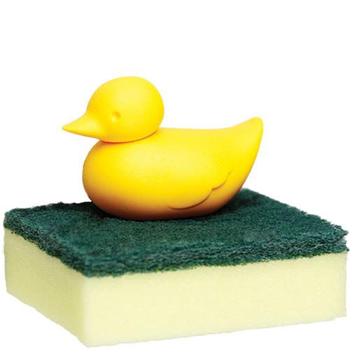 Держатель для губки Qualy Duck Sponge желтого цвета, фото