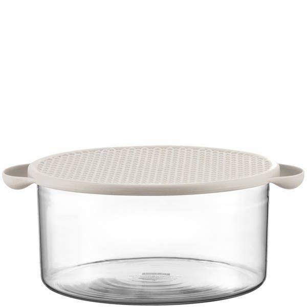 Салатник Bodum стеклянный с силиконовой крышкой белого цвета объемом 2,5 л