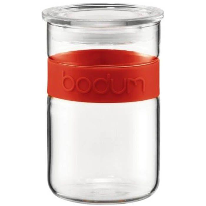 Банка для хранения Bodum с герметичной крышкой объемом 1 л красная