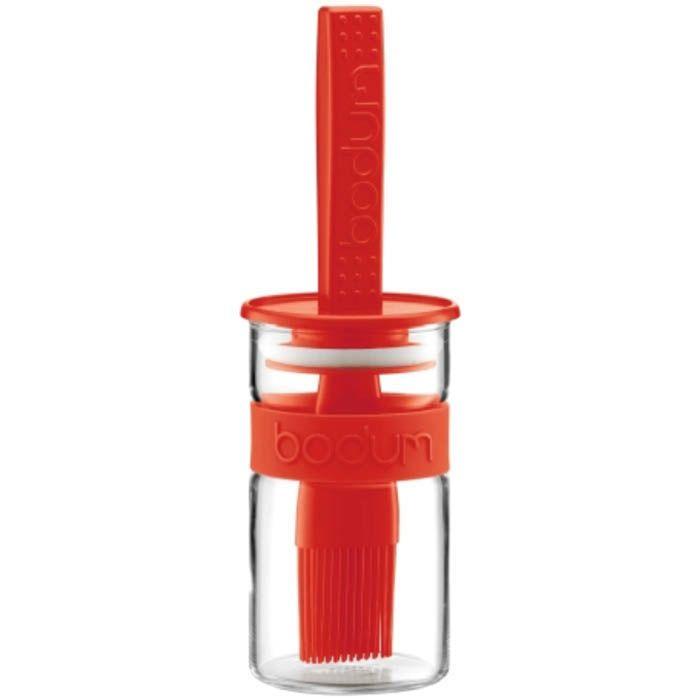 Стакан-соусник Bodum с кисточкой красного цвета