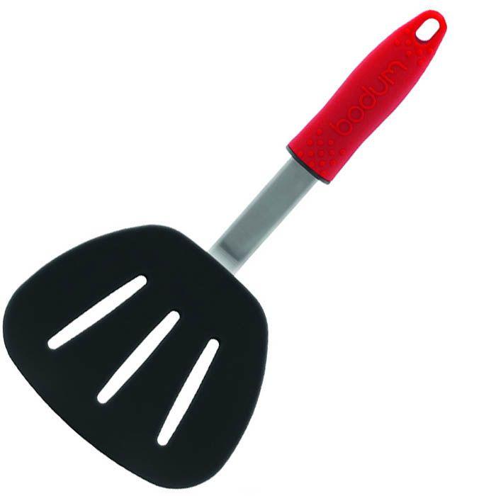 Лопатка кухонная Bodum широкая красная длинной 30 см