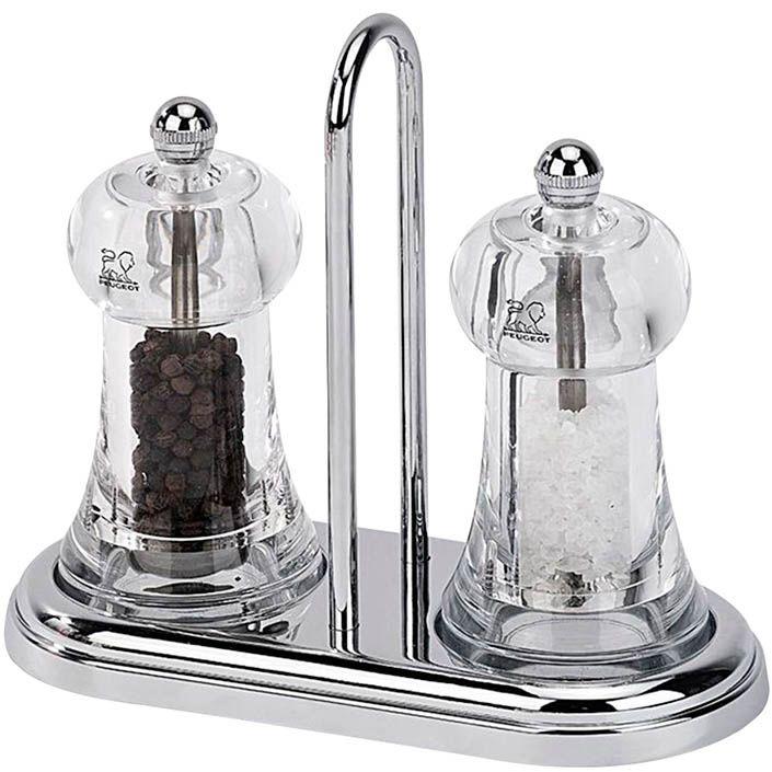 Набор мельниц Peugeot Brasserie солонка и перечница на хромированной подставке