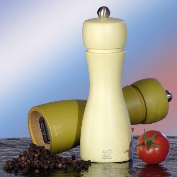 Набор мельниц для соли и переца Peugeot Tahiti 15 см молочно-оливковый