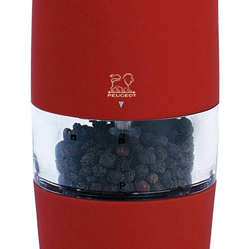 Мельница для перца Peugeot Zest электрическая 18 см красная