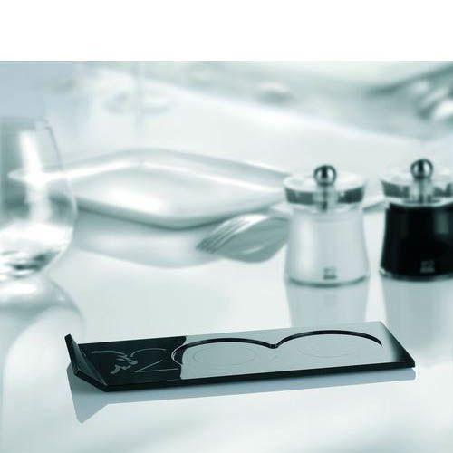 Подставка для 2-х мельниц Peugeot Plateau черная глянцевая