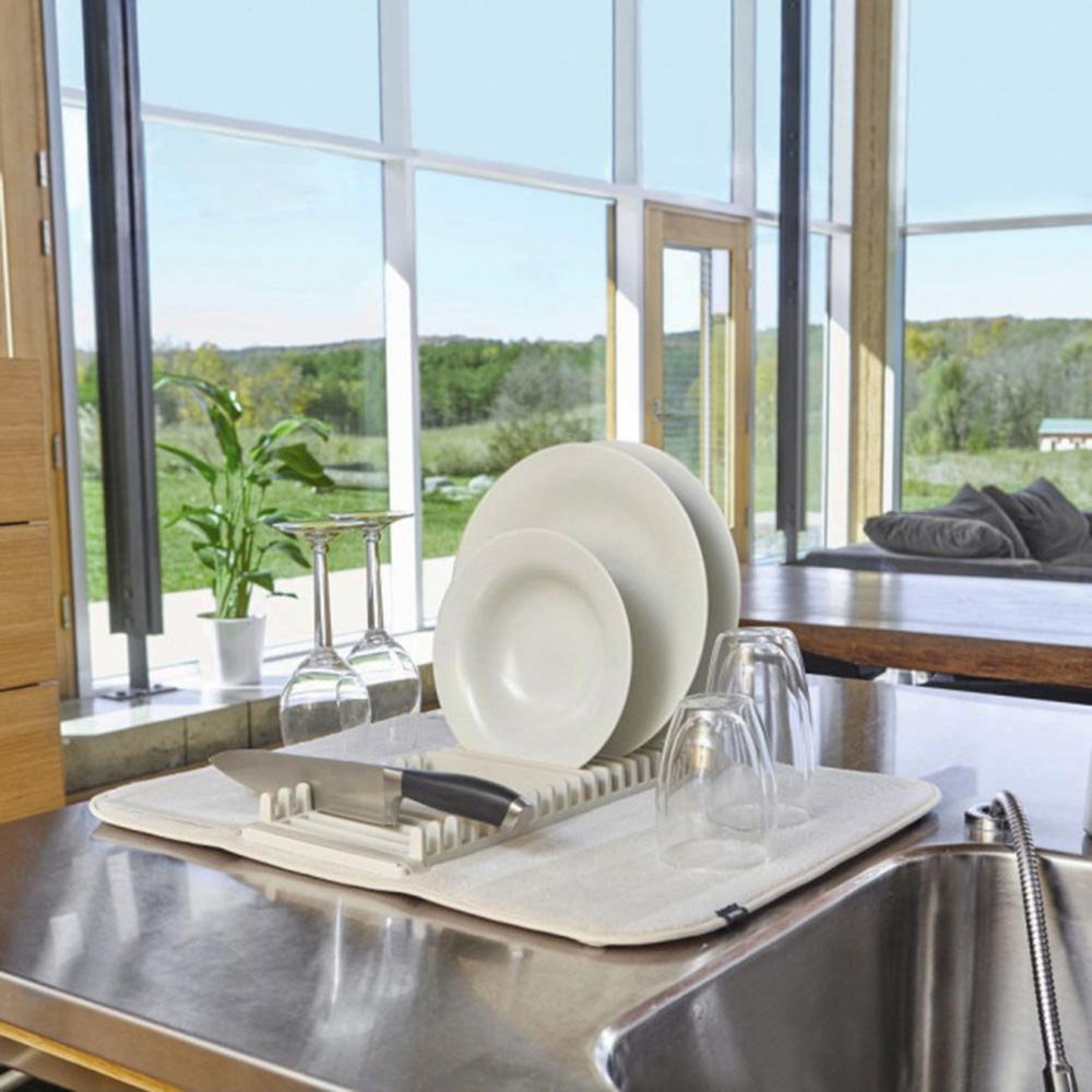 Сушилка для посуды Umbra Udry бежевого цвета