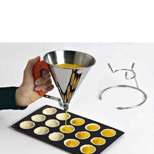 Кулинарная воронка с с клапаном De Buyer Pastry 800 мл на подставке