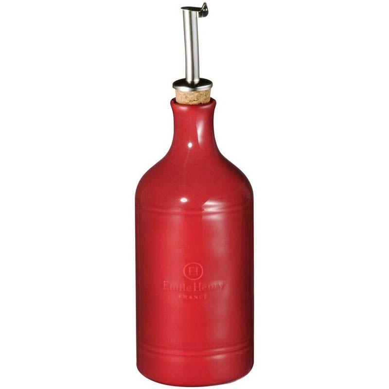 Бутылка для масла и уксуса Emile Henry Natural Chic Grenade 450 мл антикап