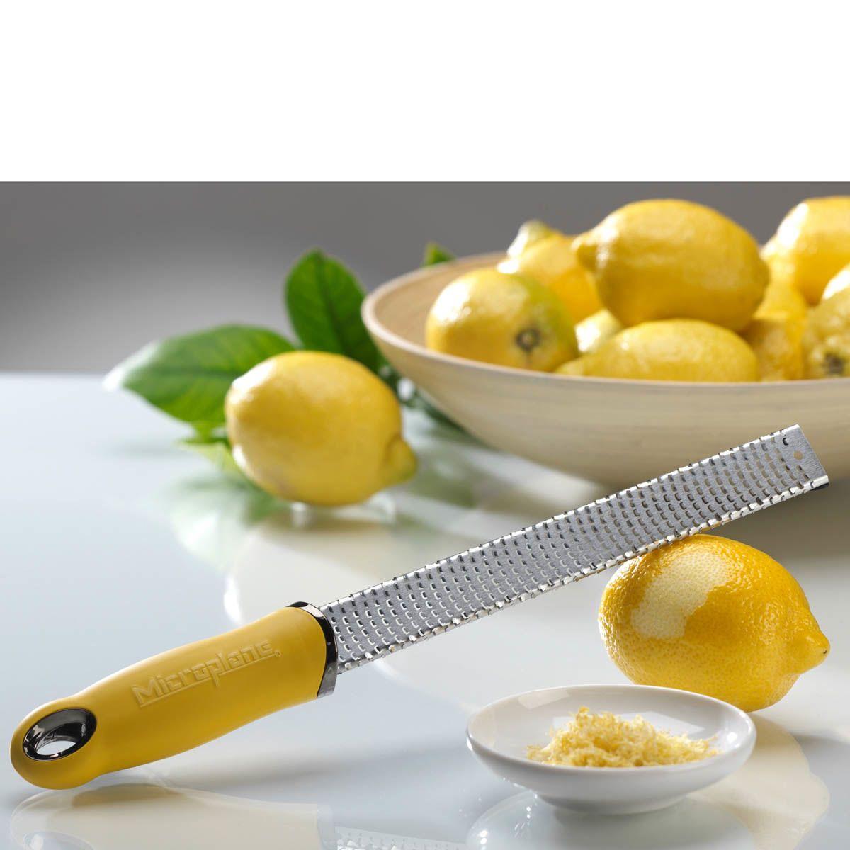 Терка мелкая для цитрусовых Microplane Premium Classic с желтой ручкой
