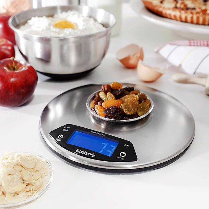 Весы для кухни Brabantia круглые со встроенным таймером
