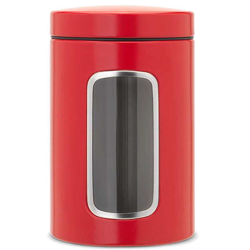 Емкость для хранения Brabantia красного цвета объем 1,4 л