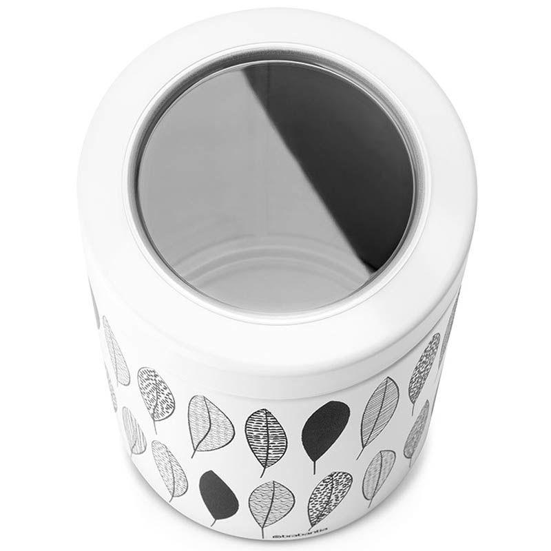 Емкость для хранения Brabantia белая с черным узором объем 1,4 л