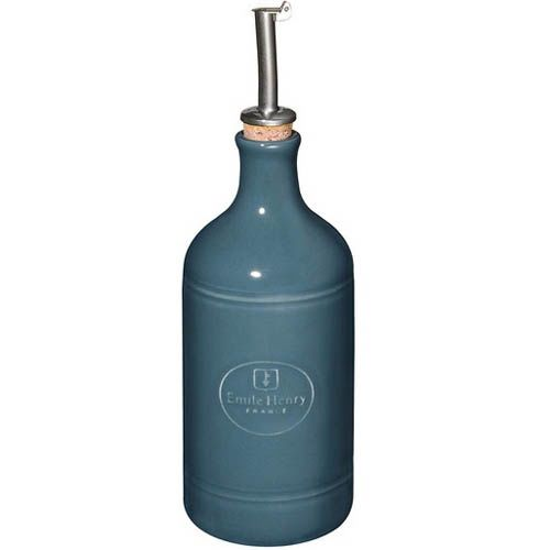 Бутылка для масла и уксуса Emile Henry Natural Chic Bleu Pavot антикап