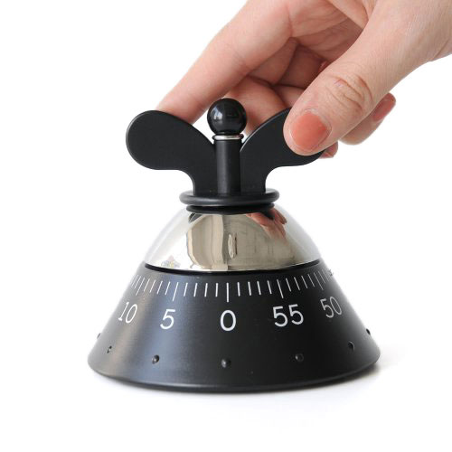 Кухонный таймер Alessi черного цвета