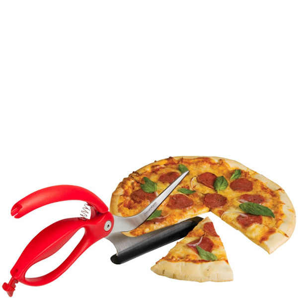 Нож для пиццы Dreamfarm Scizza красного цвета