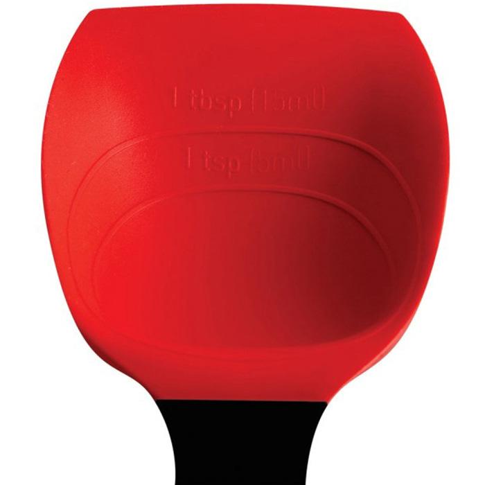 Силиконовая мерная ложка Dreamfarm Supoon красного цвета
