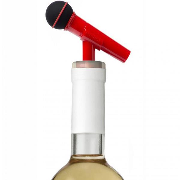 Стоппер для бутылки Rocket Микрофон красного цвета