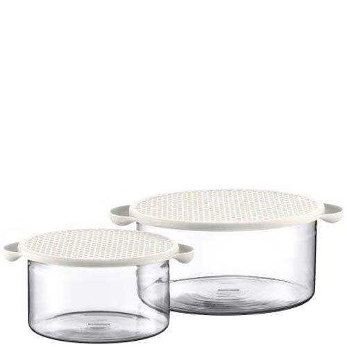 Набор емкостей для хранения Bodum  объемом 1 л и 2.5 л с белой крышкой