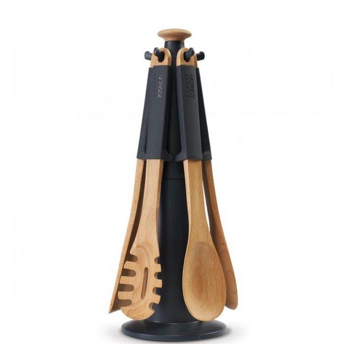 Набор кухонных приборов Elevate Joseph Joseph деревянный черный