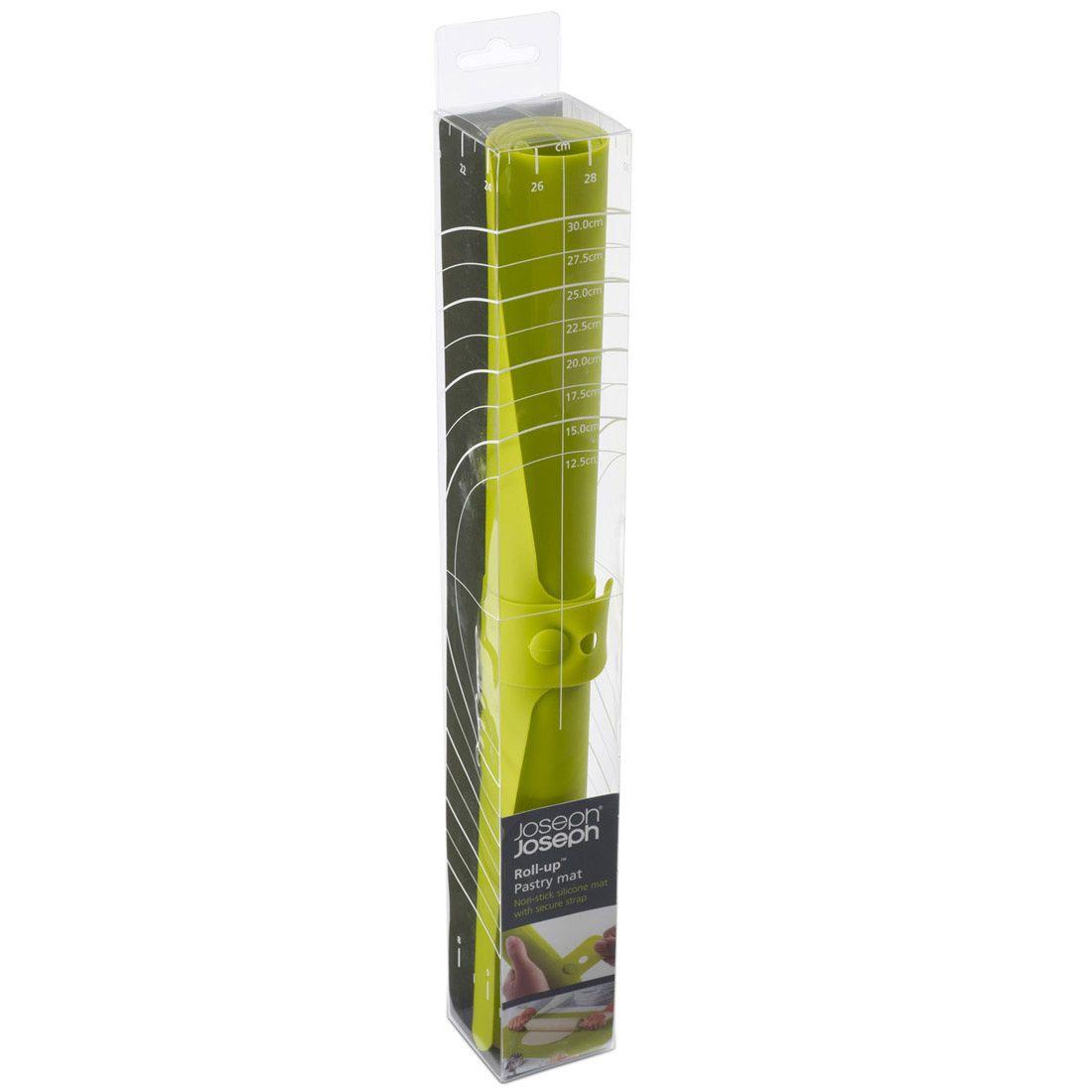 Коврик Joseph Joseph Roll-up гибкий зеленый для раскатки теста