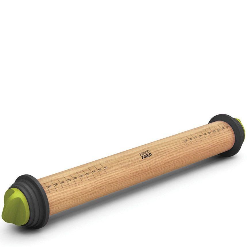 Скалка Joseph Joseph Rolling Pin Plus со съемными серо-зелеными дисками