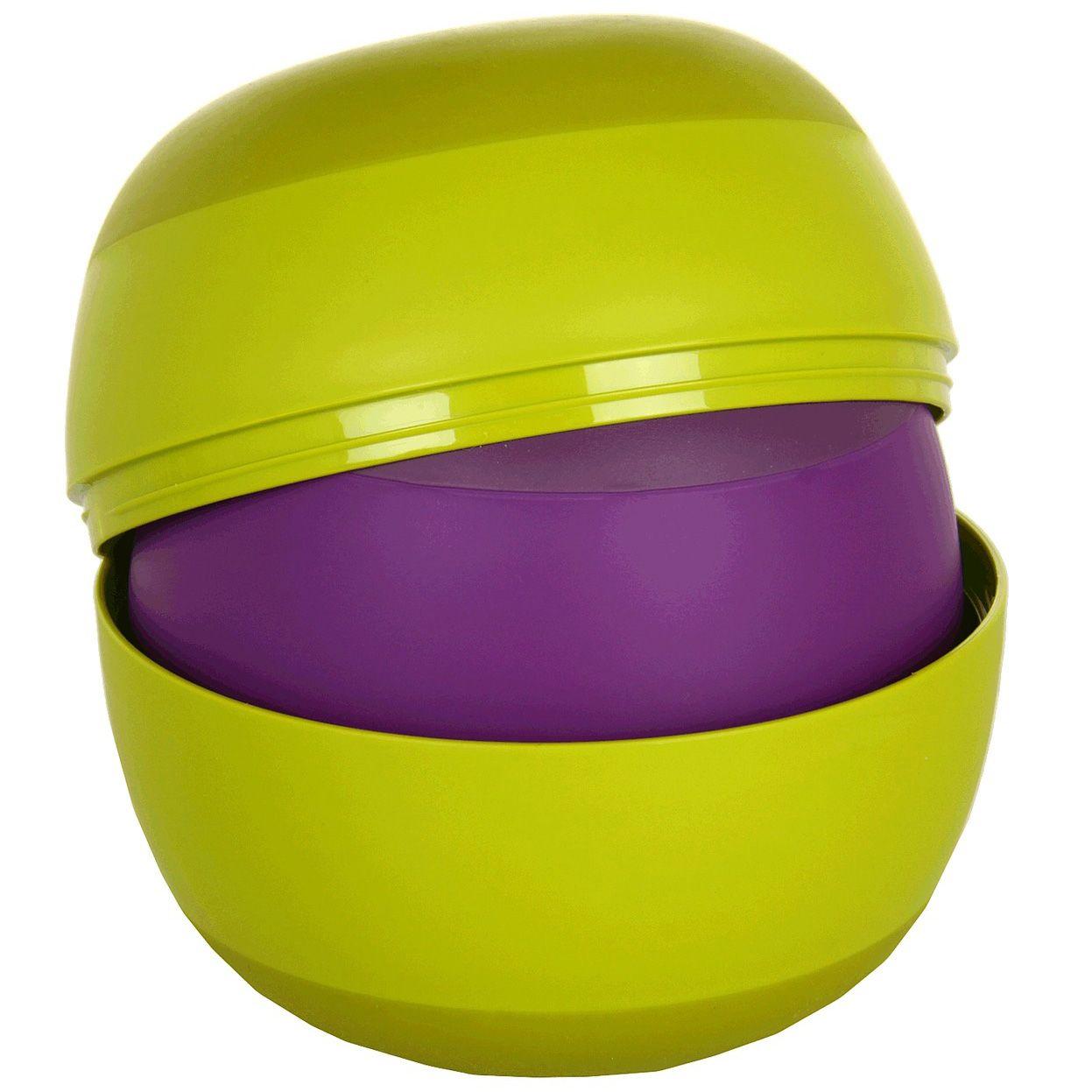 Набор Joseph Joseph Prep&Store из мисок-контейнеров зелень и пурпур