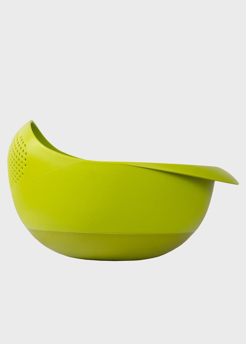 Зеленая миска Joseph Joseph Prep n Serve с ситом